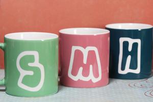 イニシャルマグカップ 名入れ オリジナルギフト メンズギフト