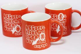 イニシャルマグカップ オレンジ 名入れマグカップ