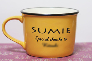 イニシャルマグカップ お母さんにプレゼント 母の日 メッセージ
