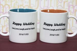 結婚祝い ウェディング ペアマグカップ メッセージ