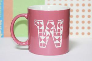 女の子に人気のピンク キッズの好きなフォント オリジナルマグカップ
