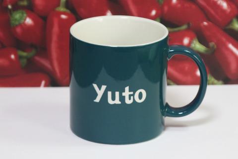 名入れマグカップ イニシャル 入学祝 大きいサイズ