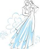 9931241-美しい花嫁と婚約者のイラスト