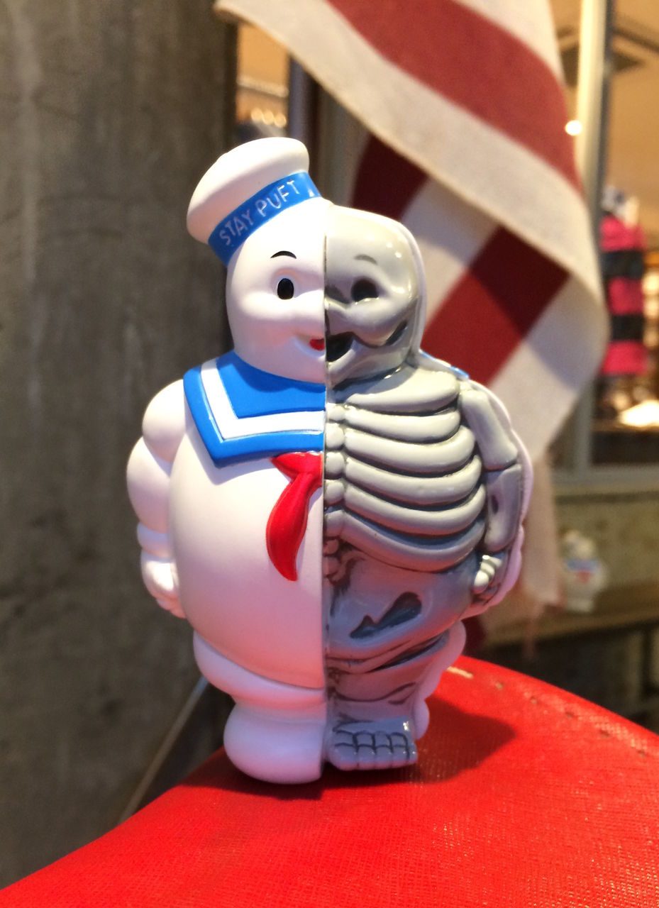 New Secret Base Marshmallow  Man 1//4 X-Ray Full  Color Black  Ghostbusters Japan