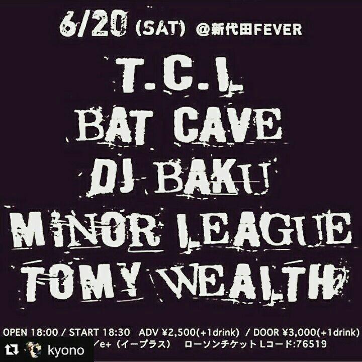 t.c.l.present  新代田fever  マイナーリーグ 6月20日