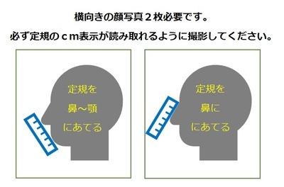 SEER布マスクの採寸写真について