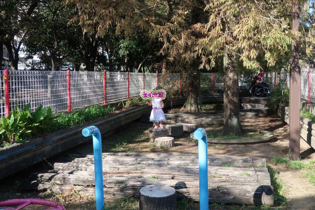 近所の公園でパパと遊ぶ (1)