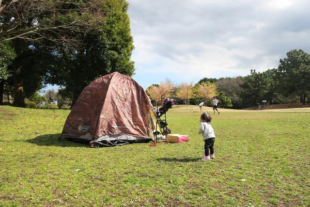 葛西臨海公園でテント (8)