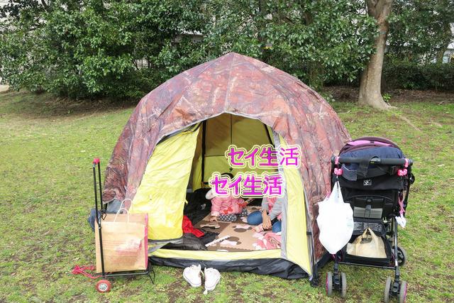 葛西臨海公園でテント (5)