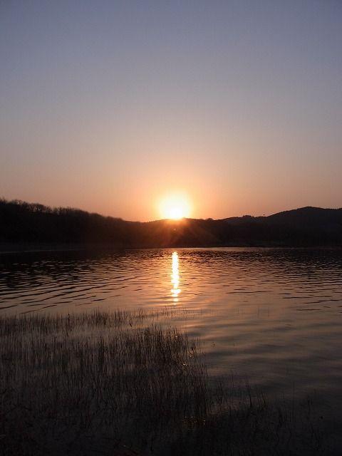 恐山の朝日