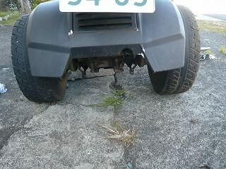 ジャイロXミニカー仕様のワイドタイヤ
