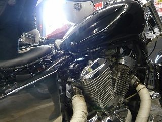 黒いSTEEDのエンジン