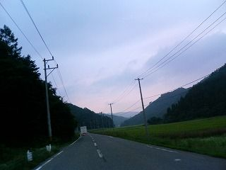 紫の空と猪苗代湖一周