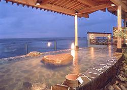 海の見える温泉