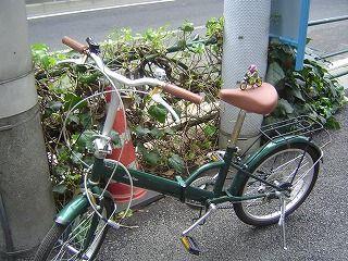 自転車とスロライ君