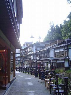 銀山温泉の町並み2