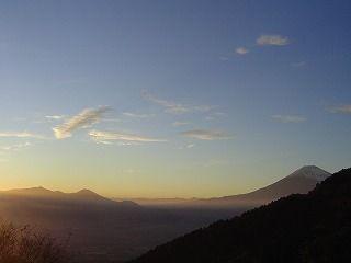 箱根スカイライン展望から富士山