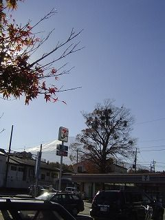 山中湖駐車場から富士山