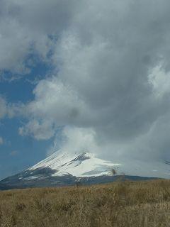 富士山にかかる雲