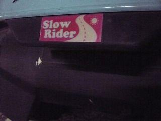 スローライダーステッカー