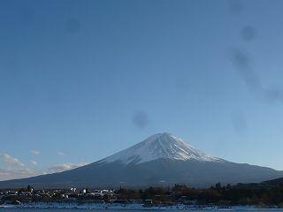 河口湖周辺と富士山