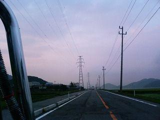 紫の空と猪苗代湖一周2