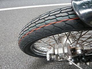 新しいタイヤ