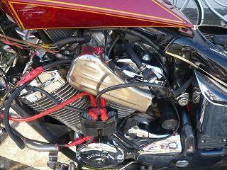 スティードエンジン左側