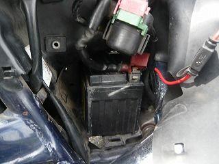 スティードのバッテリー