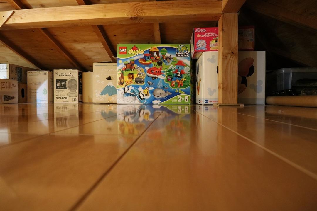 屋根裏収納完成 (11)