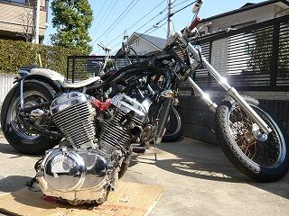 フレームとエンジン