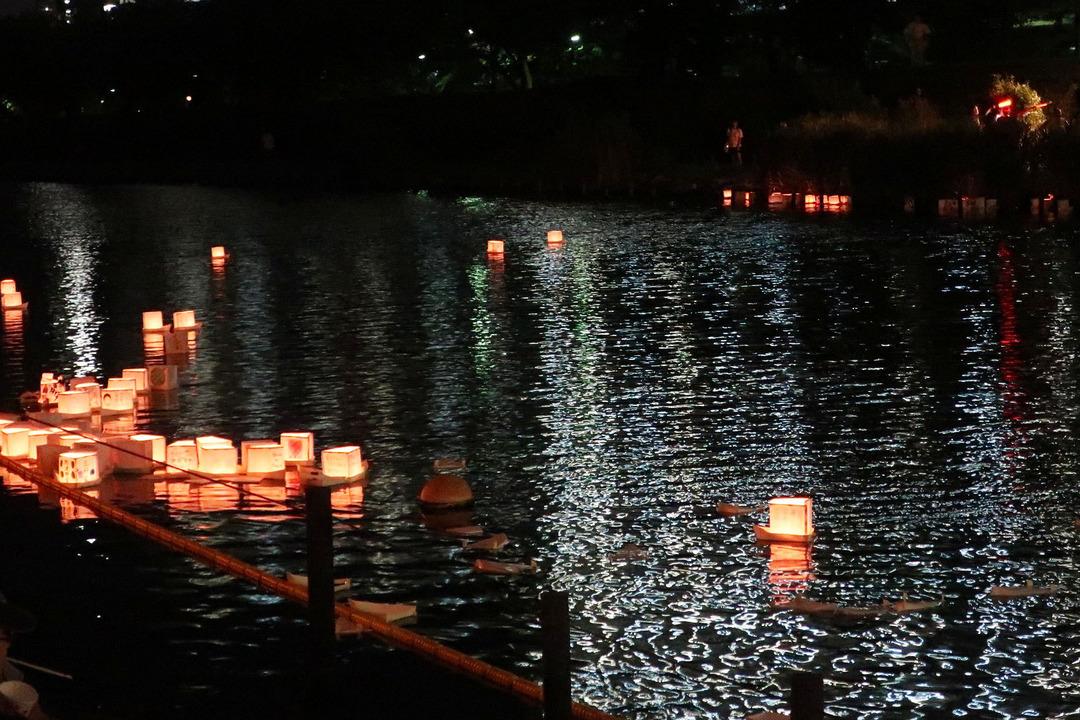 旧中川灯篭流し (6)