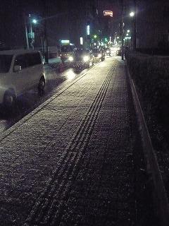 仙台の雪道
