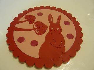 ウサギのコースター
