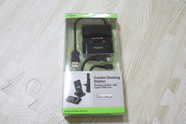 iPhone用3ポートUSBハブ付き充電器 (1)
