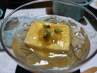 雲丹と豆腐