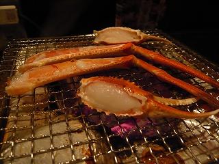 七輪と蟹のあし