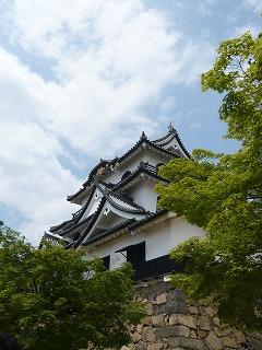 彦根城横から
