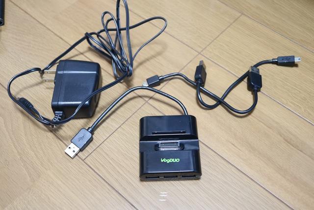 iPhone用3ポートUSBハブ付き充電器 (2)
