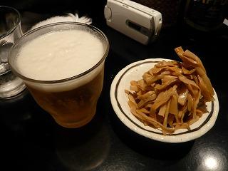 ビール&メンマ