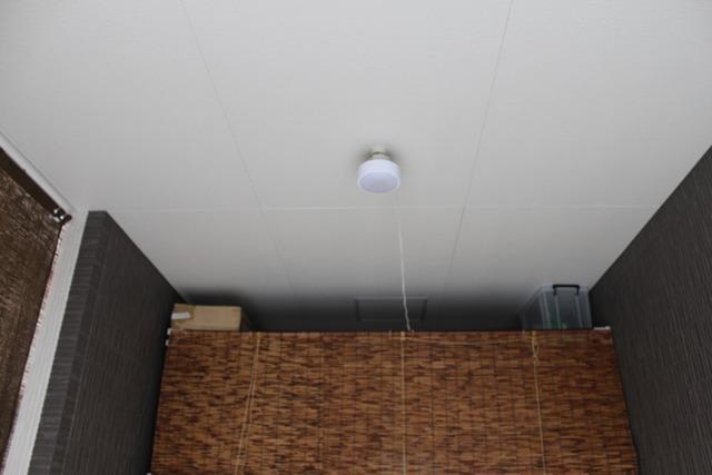 ガレージに照明 (5)