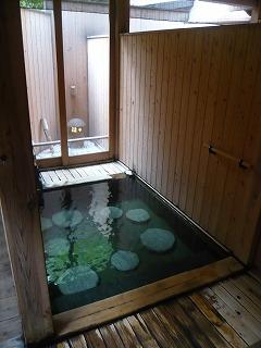 朝の露店風呂