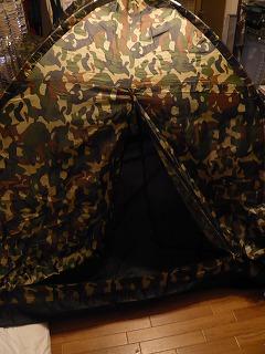 テント広げてみた