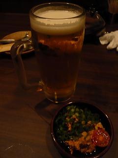 生ビールとあんきも
