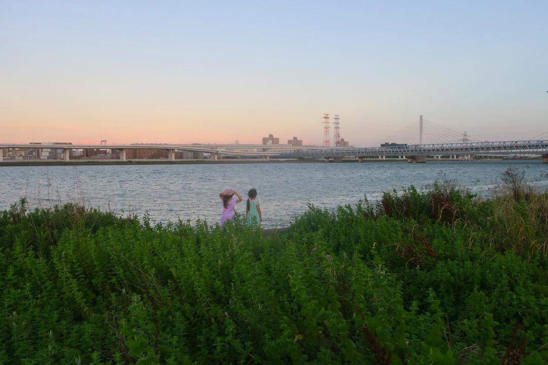 夕方の荒川 (2)