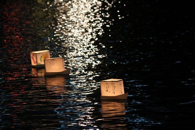 旧中川灯篭流し (9)