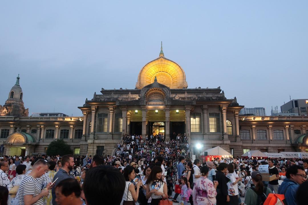 築地本願寺盆踊り (1)