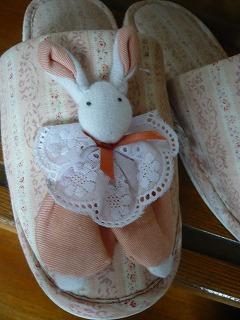 ウサギちゃんスリッパ