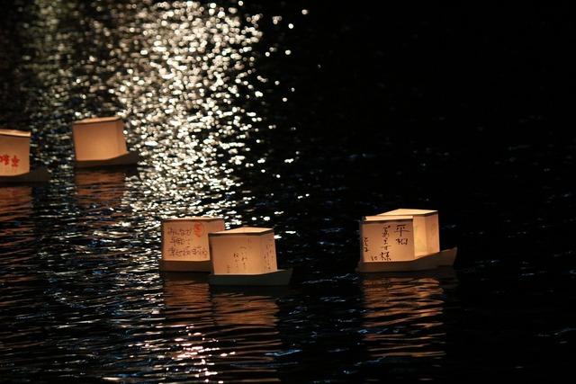 旧中川灯篭流し (10)