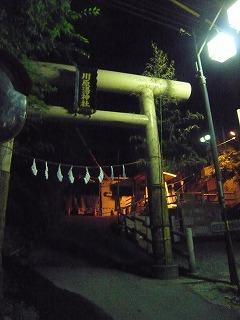 夜の川原湯神社
